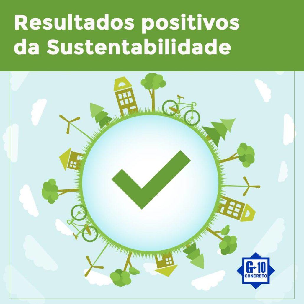 Resultados positivos da Sustentabilidade